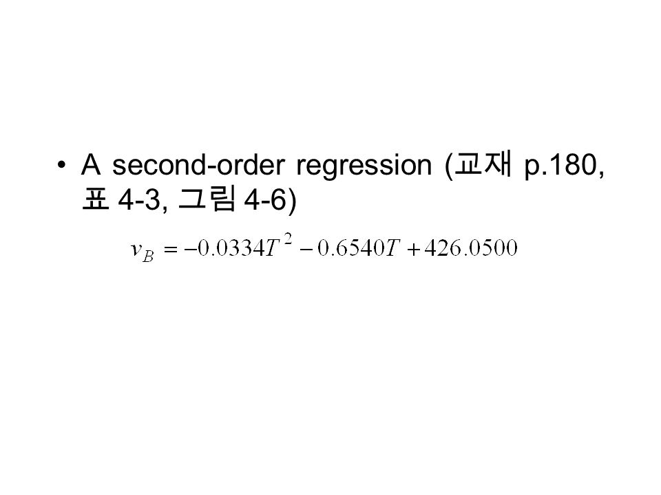 A second-order regression ( p.180, 4-3, 4-6)