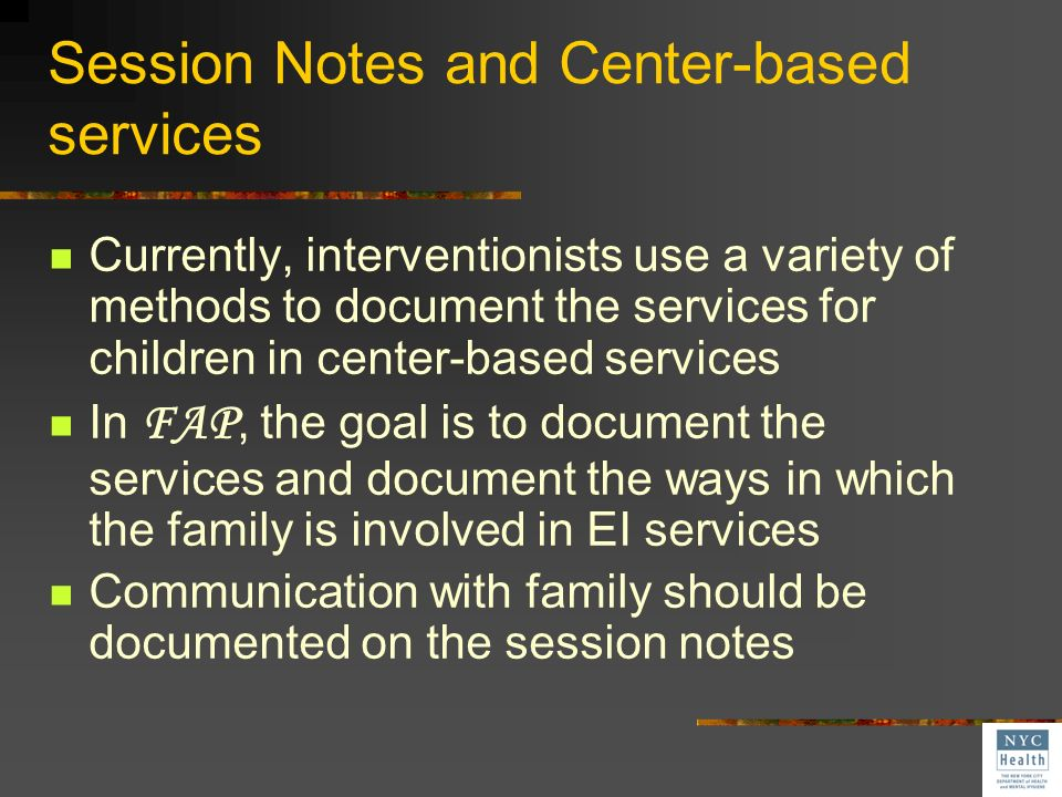 Communication between the family and interventionists is critical for children receiving EI services in centers Efforts to increase family participati