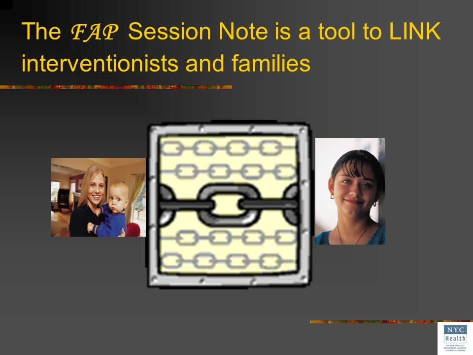 What is required in a Session Note? Notation of IFSP outcomes Documentation of activities that therapists teach parents to practice Record of childs r
