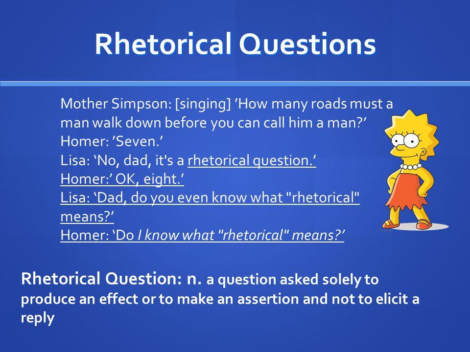 Homeric Rhetorical Question Books are useless.