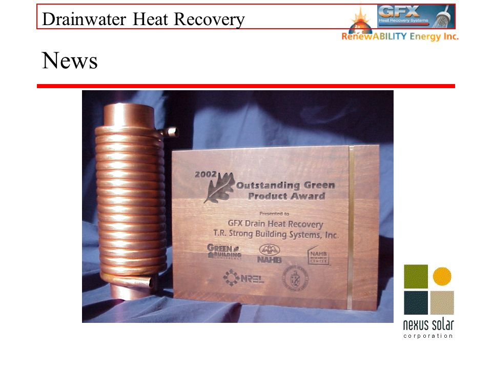 Drainwater Heat Recovery News