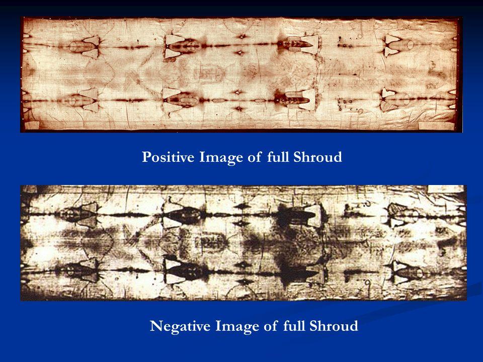Positive Image of full Shroud Negative Image of full Shroud