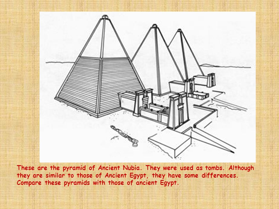 These are the pyramid of Ancient Nubia. They were used as tombs. Although they are similar to those of Ancient Egypt, they have some differences. Comp