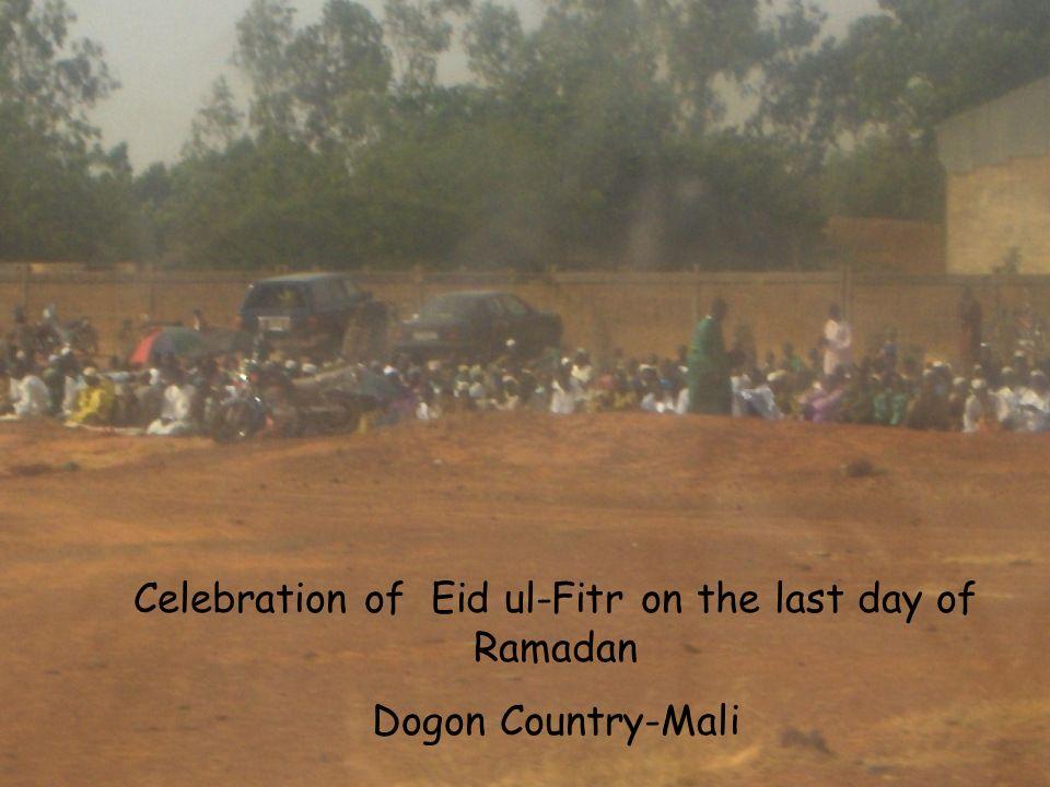 Celebration of Eid ul-Fitr on the last day of Ramadan Dogon Country-Mali