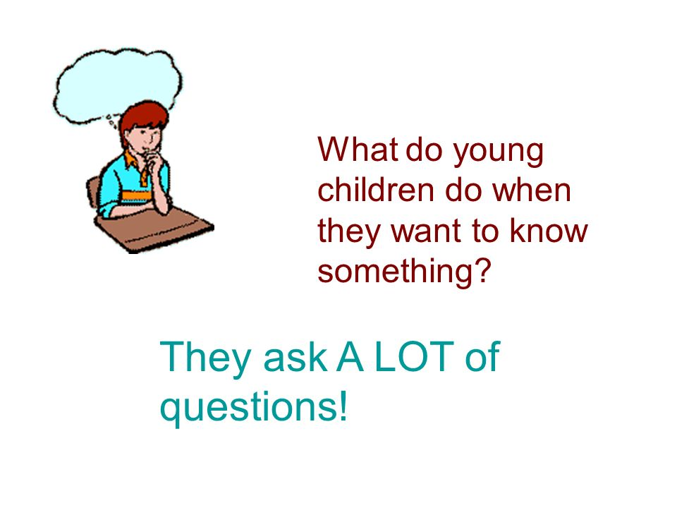 What do young children do when they want to know something? They ask A LOT of questions!