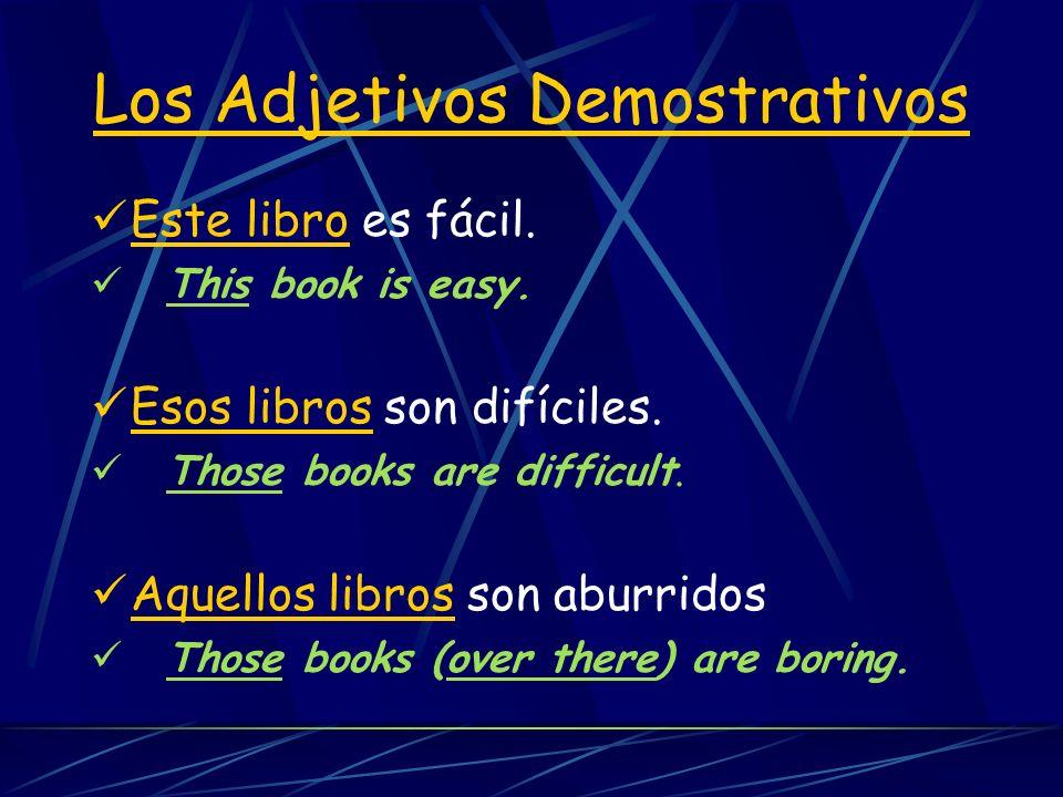 Una rima para recordar… (este / estos) This and These have the ts, (este / estos) (ese / esos -- smaller words Those and That arent as fat, (ese / eso