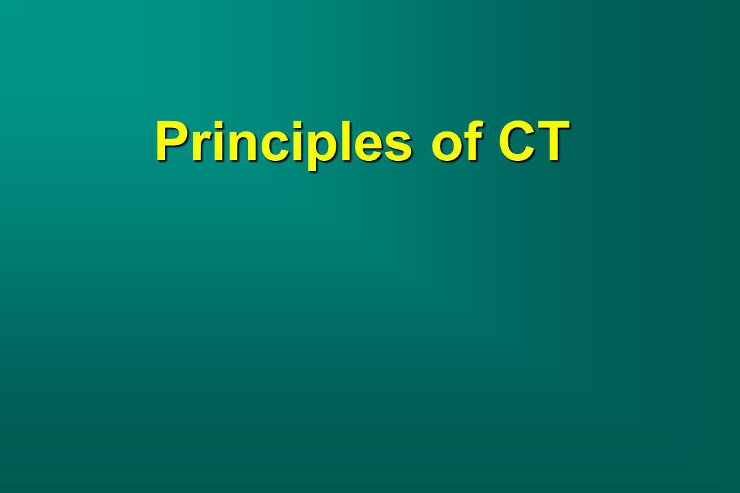 Principles of CT