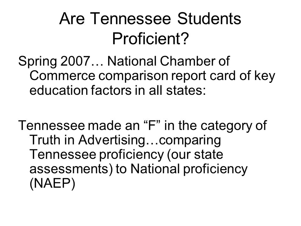 Are Tennessee Students Proficient.