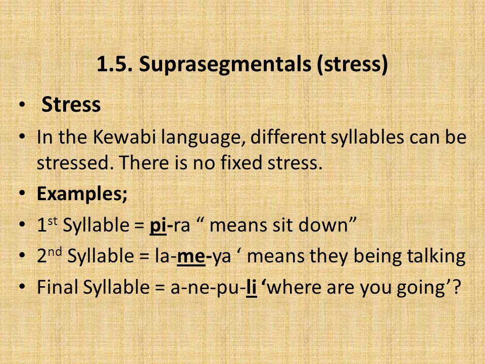 2.Morphology Kewabi morphemes can be divided into – Root morphemes; e.g.