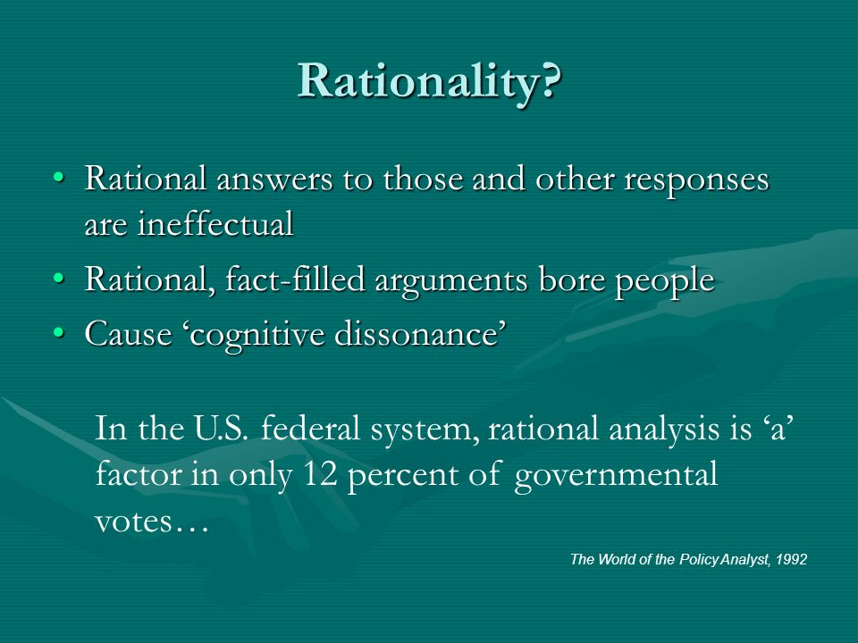 Rationality.