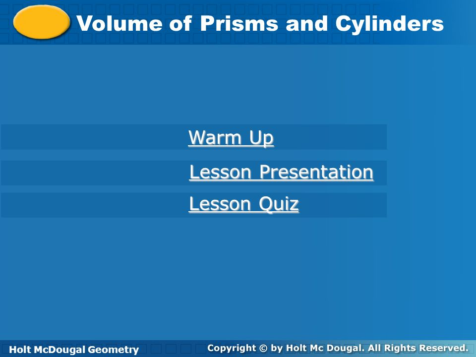 Volume of Prisms and Cylinders ITS OCTOBER!!.Warm Up 10/1/13 Find the area of each figure.