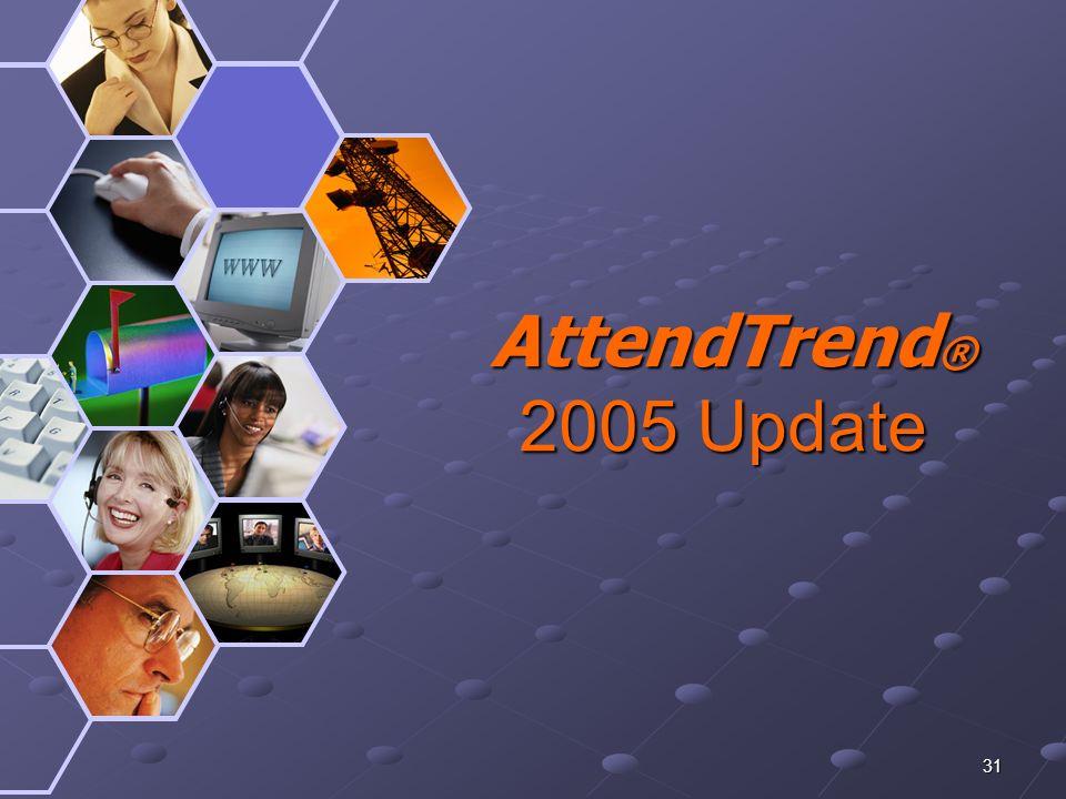 31 AttendTrend ® 2005 Update AttendTrend ® 2005 Update