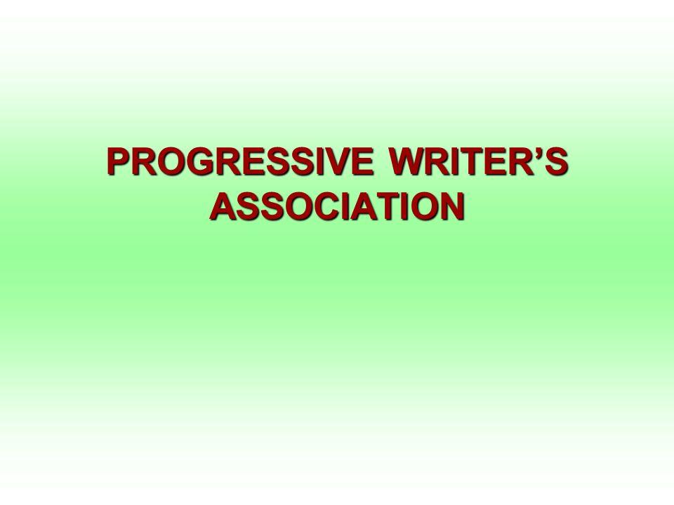 PROGRESSIVE WRITERS ASSOCIATION