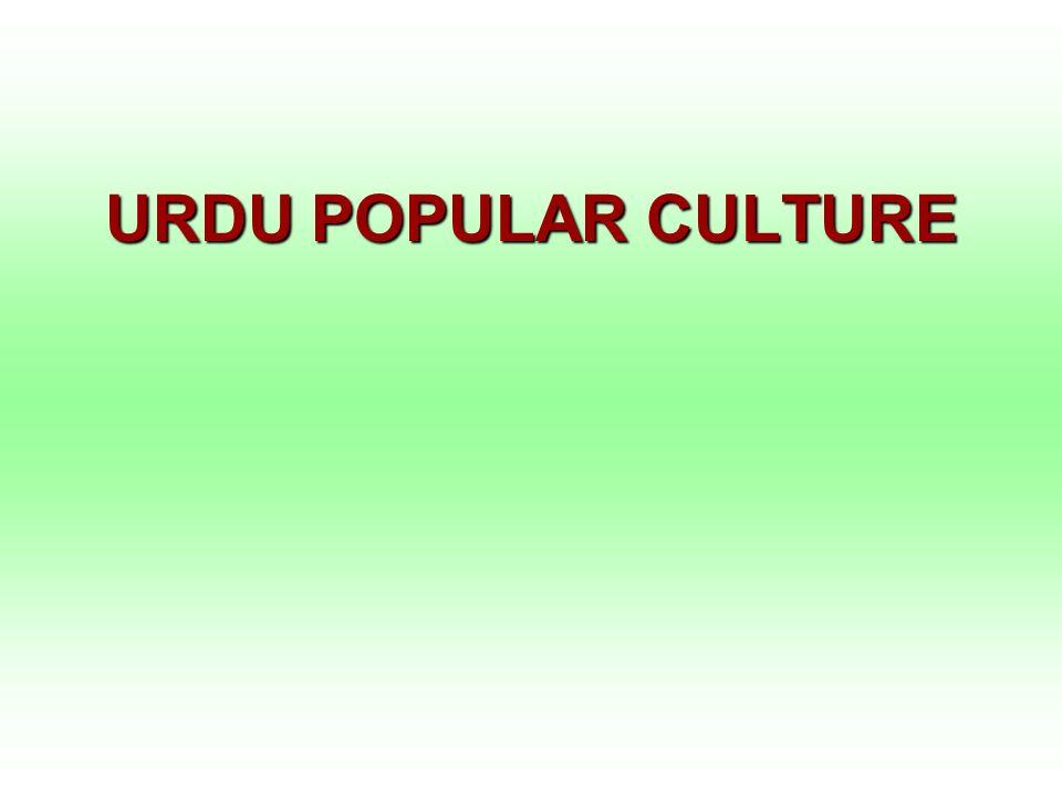 URDU POPULAR CULTURE