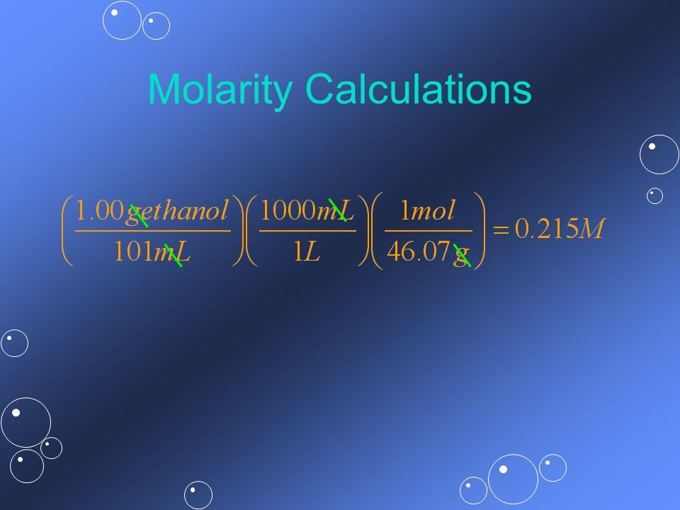 Molarity Calculations