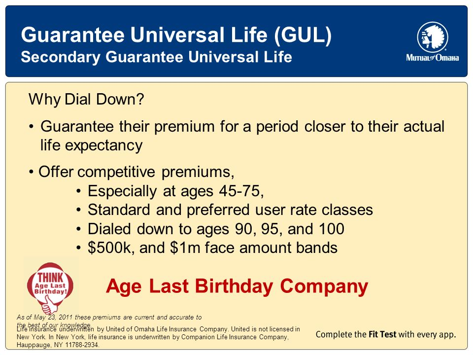Life insurance underwritten by United of Omaha Life Insurance Company.
