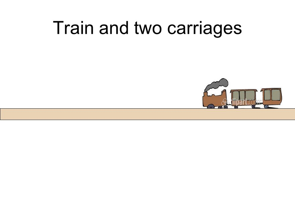 Train and two carriages