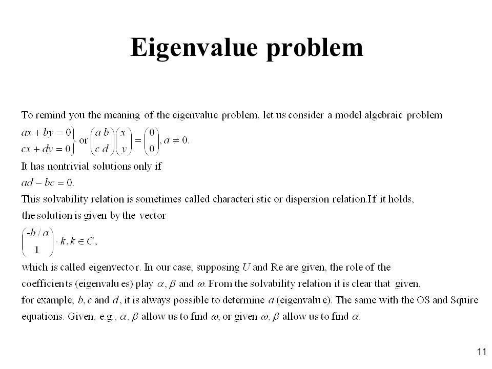 11 Eigenvalue problem