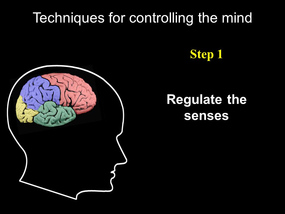 Techniques for controlling the mind Step 1 Regulate the senses