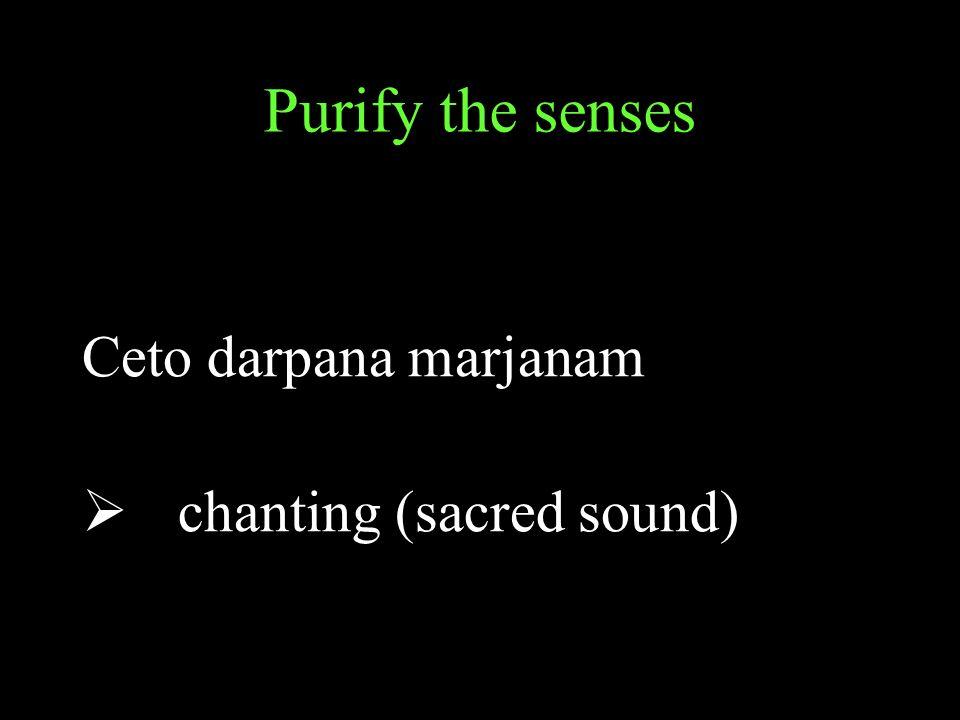 Purify the senses Ceto darpana marjanam chanting (sacred sound)