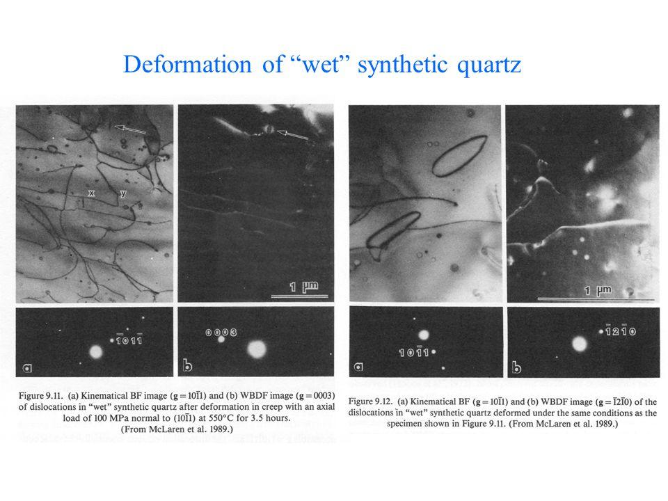 Deformation of wet synthetic quartz