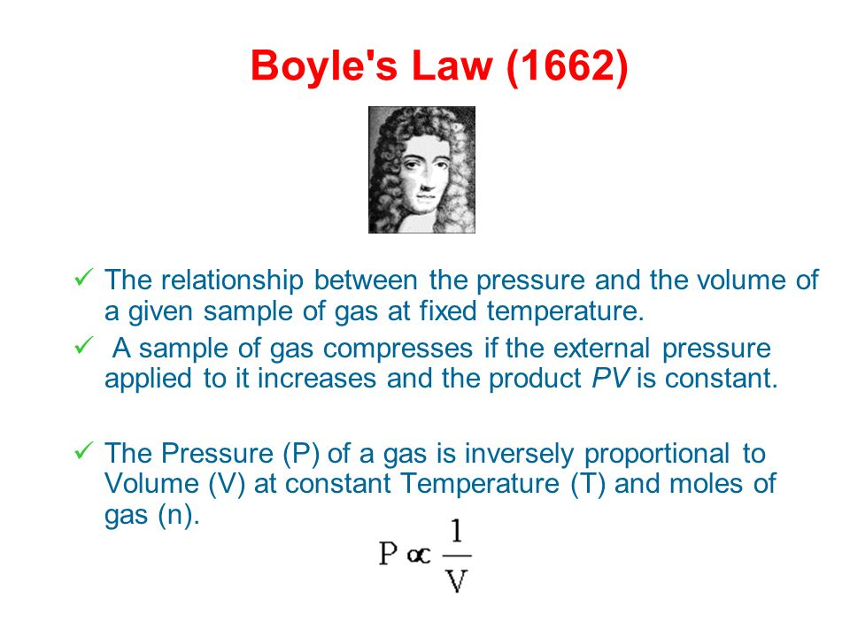 Ideal Gas Laws There are some laws that explain (a) the relationship between the pressure and volume of the gas at a fixed temperature, (b) the relati