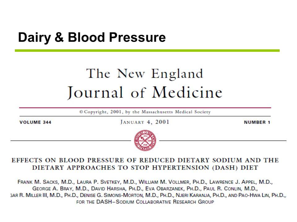 Dairy & Blood Pressure