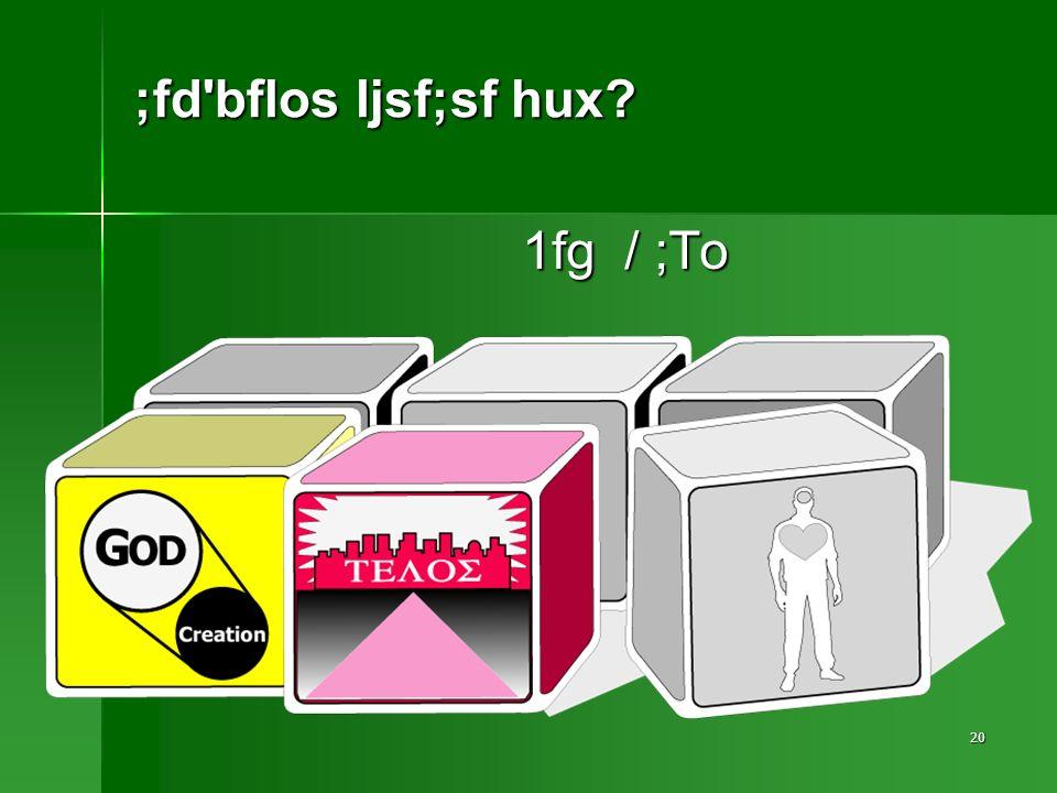 20 ;fd bflos ljsf;sf hux 1fg / ;To
