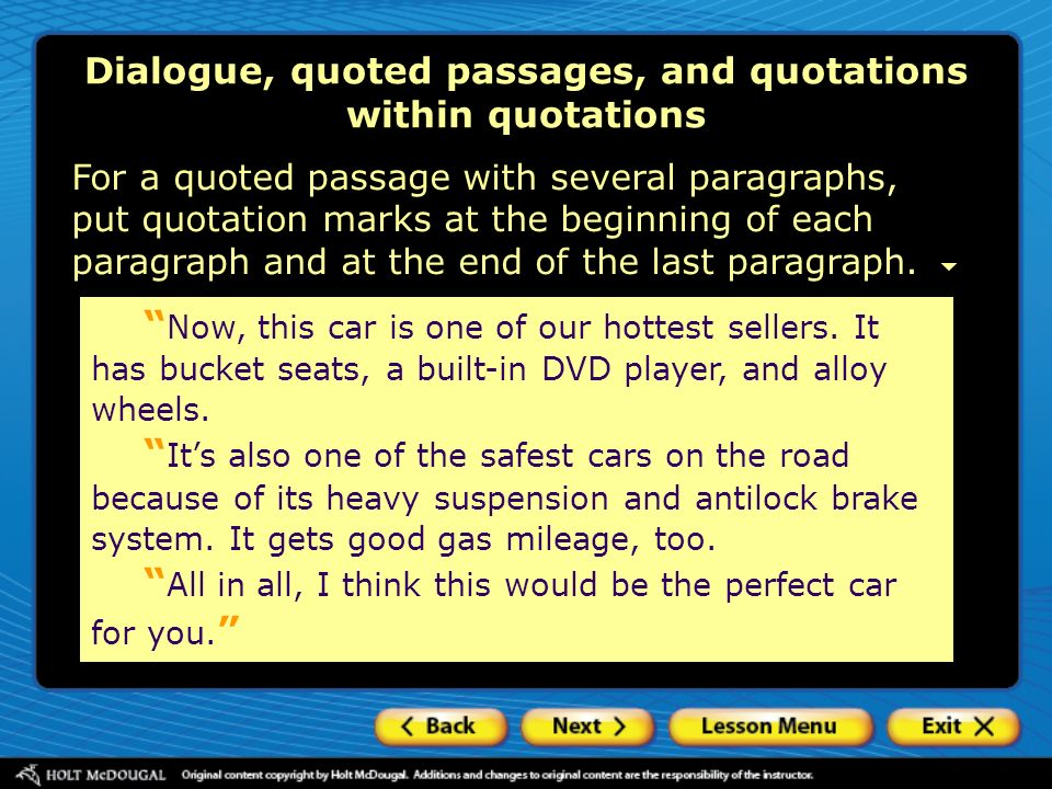 citing quotes within an essay Citing quotes in essays reinforces writers' arguments, adds weight to discussion and introduces interesting new concepts it is important to correctly reference any ideas that are drawn from others to avoid plagiarism, whether they are direct quotes or reworded concepts.