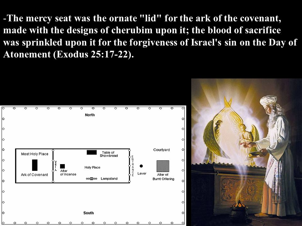 -The mercy seat was the ornate