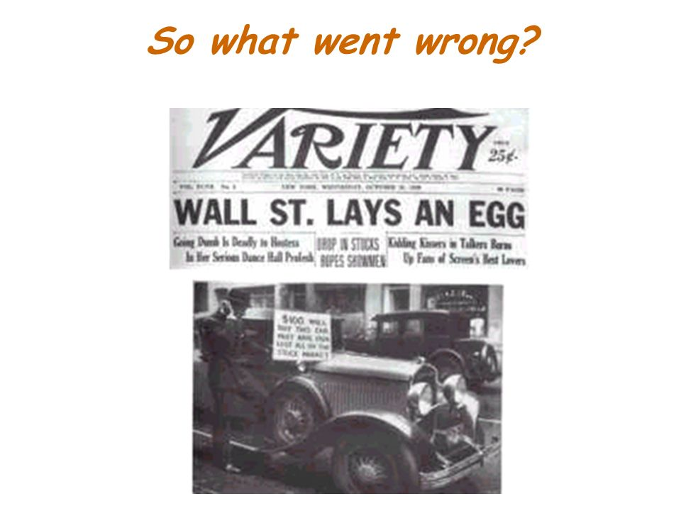 The crucial point came when banks began to loan money to stock-buyers. Wall street investors were allowed to use the stocks themselves as collateral.