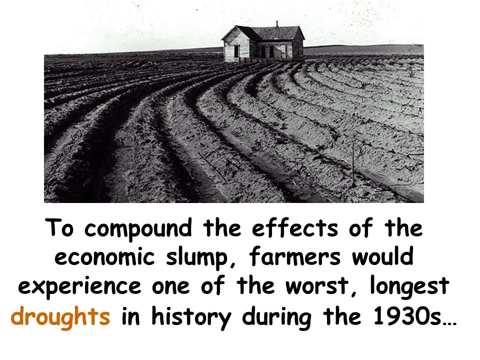 For example, American farmers lost 1/3 of their market. Farm prices plummeted and thousands of farmers went bankrupt.