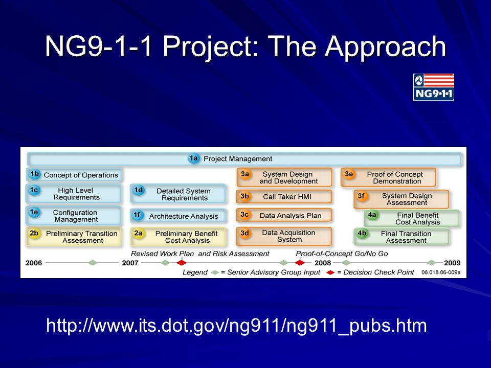NG9-1-1 Project: The Approach