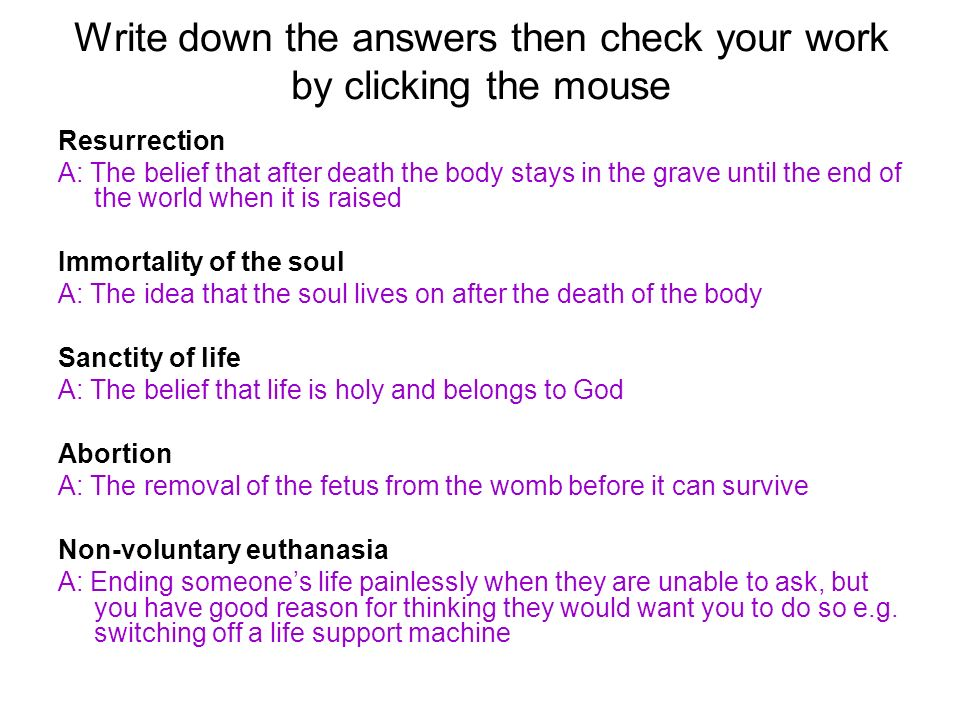 Matters of Life and Death revision This unit is based on Christianity and Islam