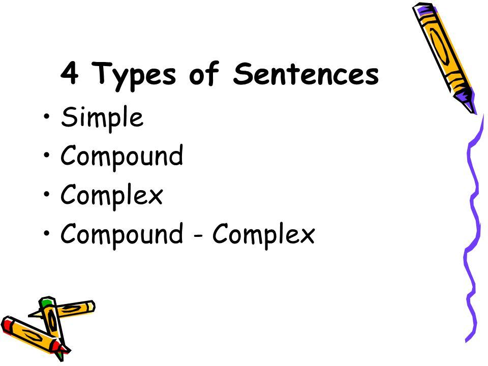 4 Types of Sentences Simple Compound Complex Compound - Complex