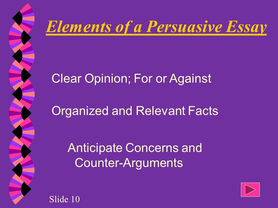 elements of a argumentative essay The elements of an argument - the elements of an argument objectives argument essay example - as you see from elements of argumentative writing is the.