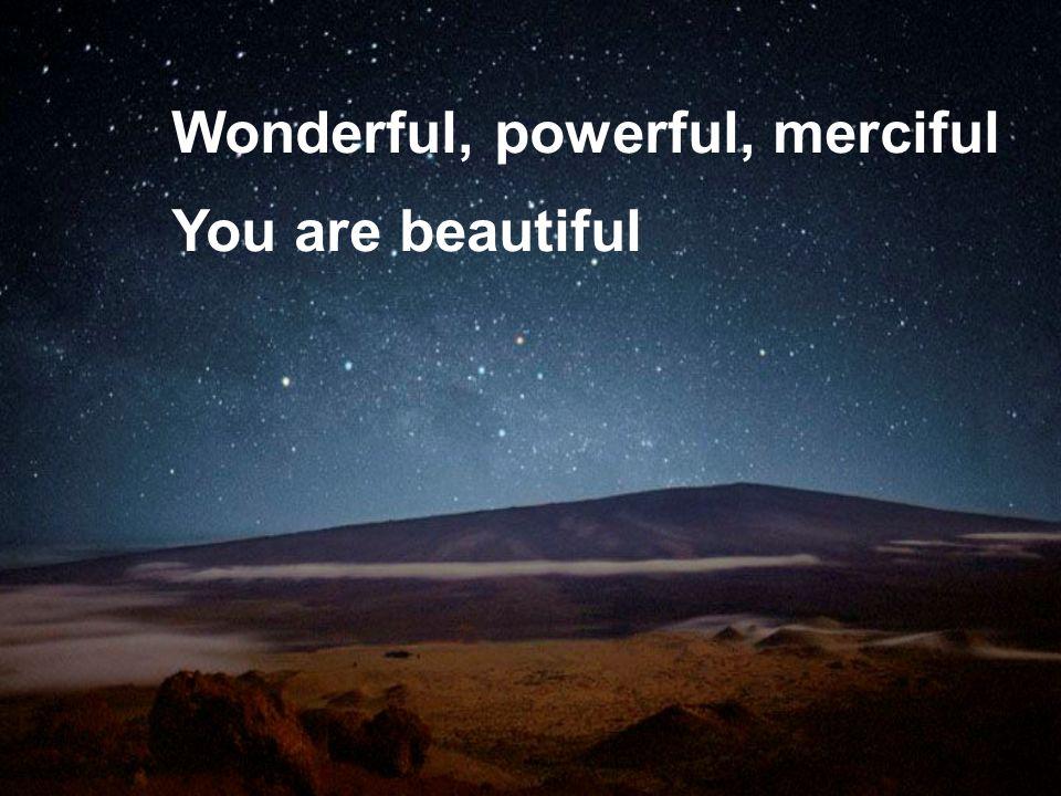 Wonderful, powerful, merciful You are beautiful