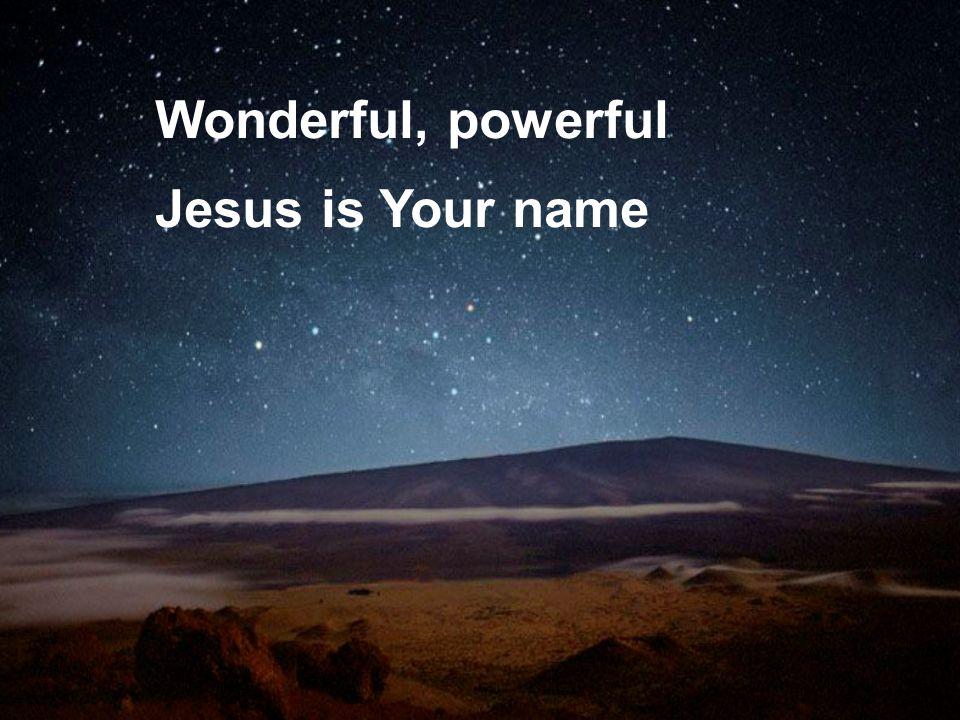 Wonderful, powerful Jesus is Your name