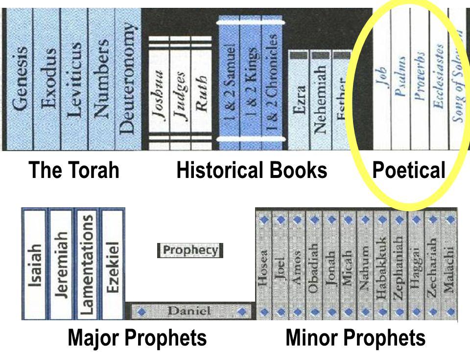 Old Testament Books The TorahHistorical BooksPoetical Major ProphetsMinor Prophets