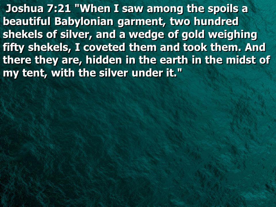Joshua 7:21