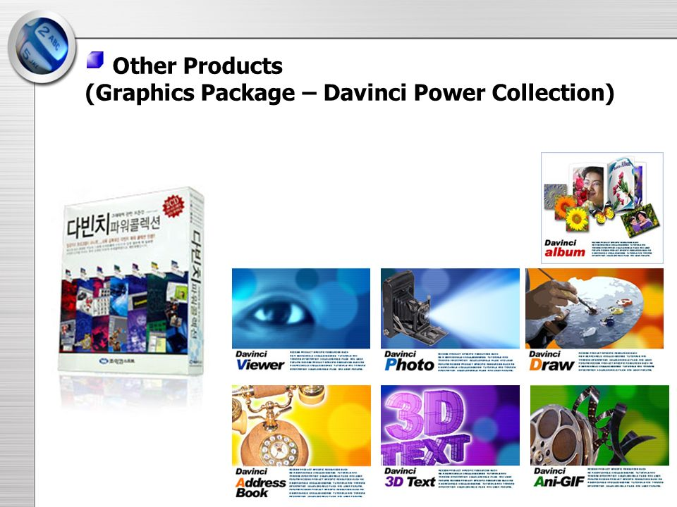 Other Products (Graphics Package – Davinci Power Collection)