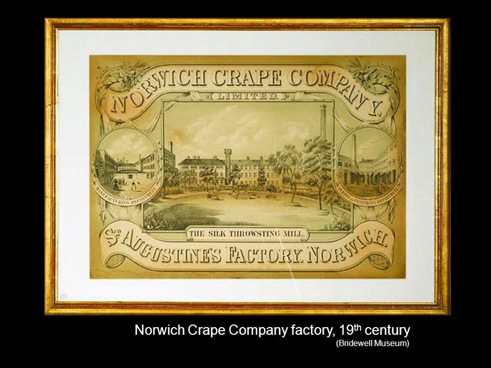 Norwich Crape Company factory, 19 th century (Bridewell Museum)