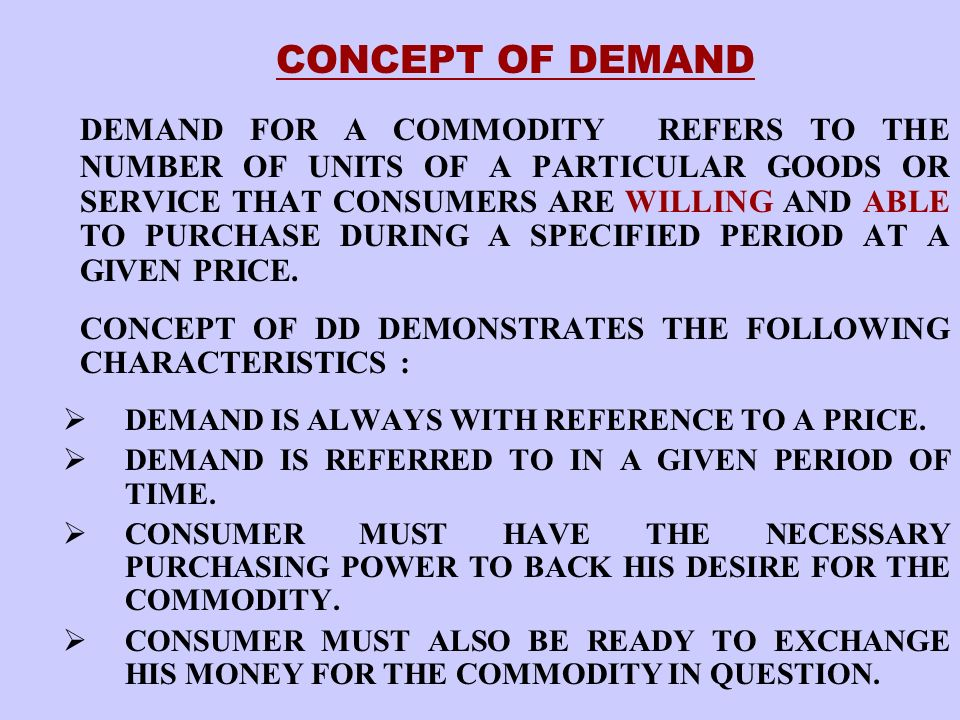DEMAND DETERMINANTS PRICE OF THE COMMODITY : 1 Q PRICE OF THE RELATED COMMODITIES SUBSTITUTE GOODS.