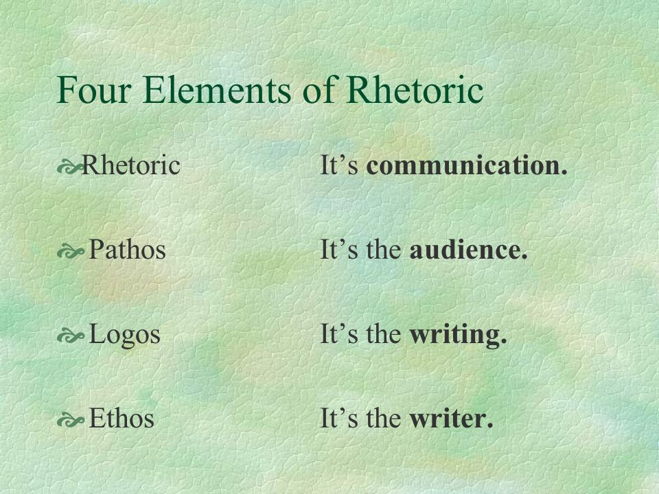 Persuasion Through Rhetoric Words, Phrases, and Simple Assertions