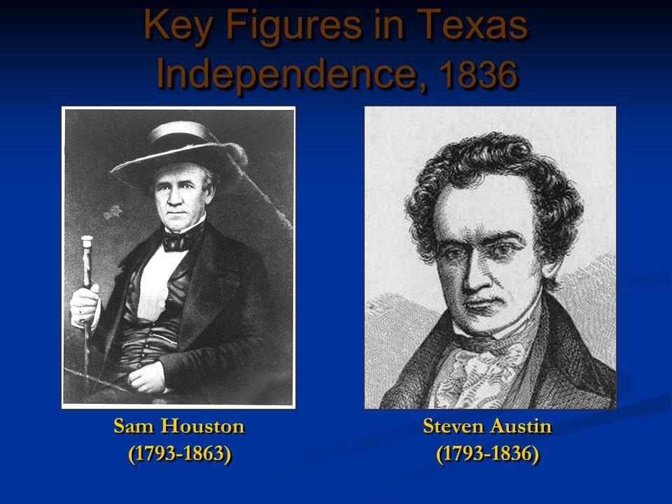 Key Figures in Texas Independence, 1836 Sam Houston (1793-1863) Steven Austin (1793-1836)