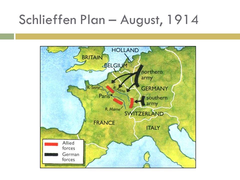 Schlieffen Plan – August, 1914