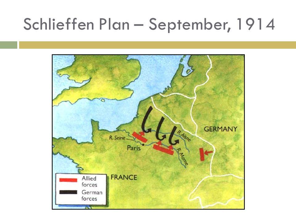 Schlieffen Plan – September, 1914