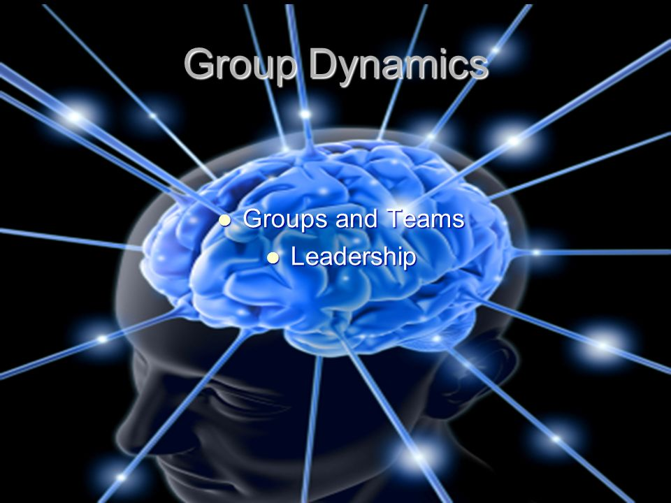 Group Dynamics Groups and Teams Groups and Teams Leadership Leadership