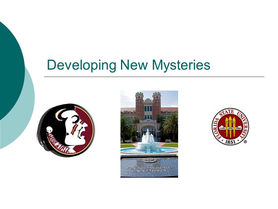Developing New Mysteries