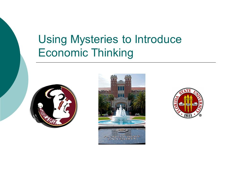 Using Mysteries to Introduce Economic Thinking